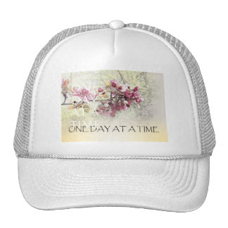 One Day at a Time Pink Blossoms Trucker Hat