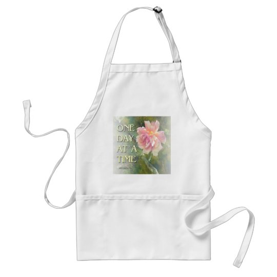 One Day at a Time Pink Rose Adult Apron
