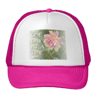 One Day at a Time Pink Rose Hat