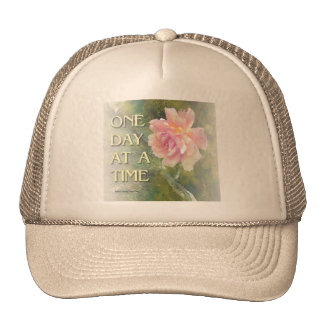One Day at a Time Pink Rose Trucker Hat