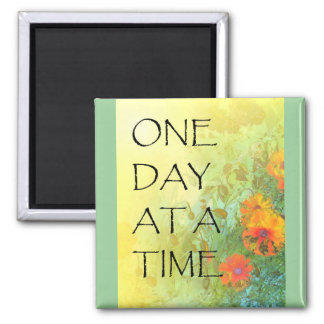 One Day at a Time Poppies and Lilacs Magnet
