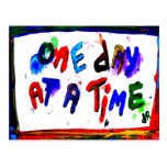 one day at a time post card
