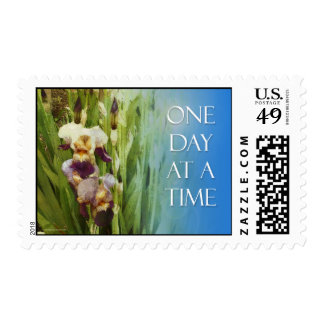 One Day at a Time Purple Iris Stamps