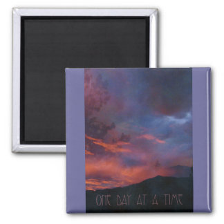 One Day at a Time - Quiet Sunrise 2 Inch Square Magnet