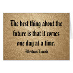 One Day at a Time Quote Note Card