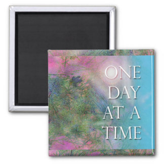 One Day at a Time Recovery Magnet