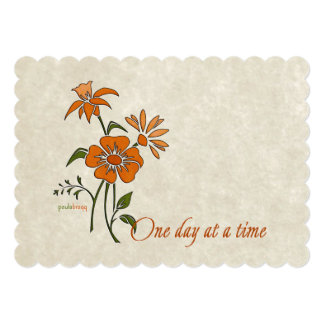 One Day at a Time (recovery quote) Card