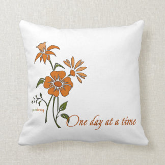 One Day at a Time (recovery quote) Throw Pillow