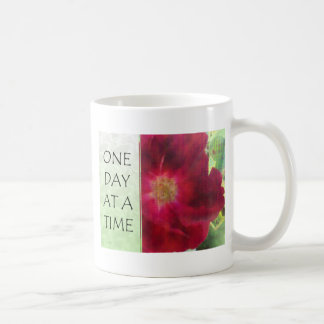 One Day at a Time Red Rose Coffee Mug