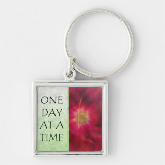One Day at a Time Red Rose Key Chains