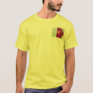One Day at a Time Red Rose T-Shirt