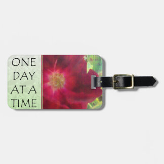 One Day at a Time Red Rose Tags For Luggage