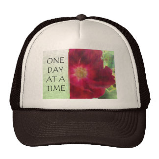 One Day at a Time Red Rose Trucker Hat