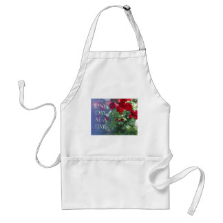 One Day at a Time Red Roses Adult Apron
