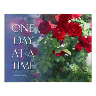 One Day at a Time Red Roses Poster