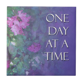 One Day at a Time Rhododendrons Tile