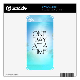 One Day at a Time September Sky iPhone 4 Decal