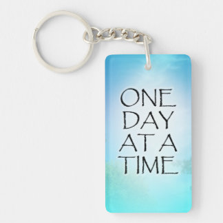 One Day at a Time September Sky Single-Sided Rectangular Acrylic Keychain