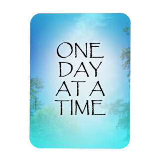 One Day at a Time September Sky Rectangular Photo Magnet