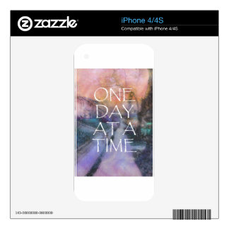 One Day at a Time Sidewalk iPhone 4 Decal