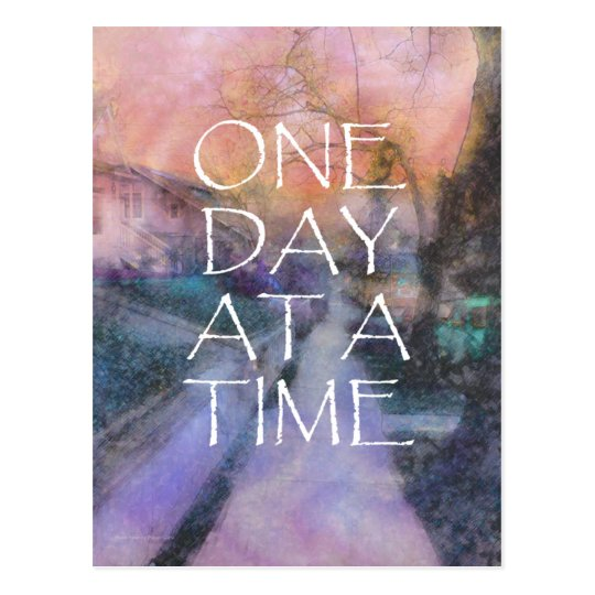 One Day at a Time Sidewalk Postcard