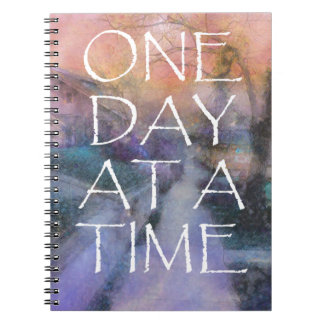 One Day at a Time Sidewalk Spiral Notebook