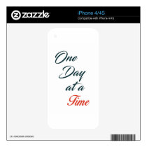 One Day at a time Skin For The iPhone 4