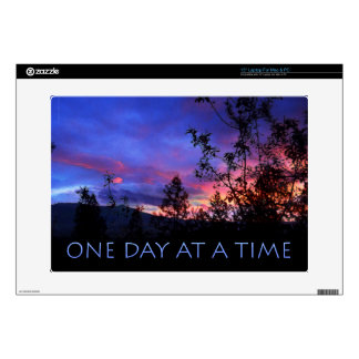 """One Day at a Time Spring Sunrise 15"""" Laptop Decal"""