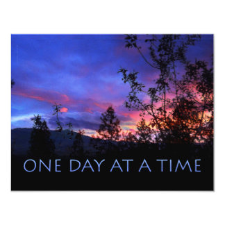 One Day at a Time Spring Sunrise 4.25x5.5 Paper Invitation Card