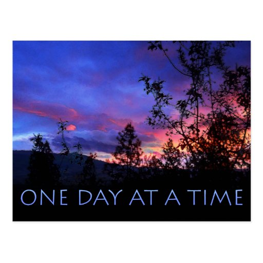 One Day at a Time Spring Sunrise Postcards