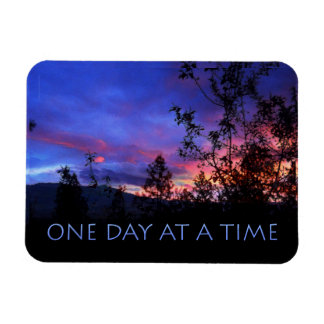 One Day at a Time Spring Sunrise Rectangular Photo Magnet