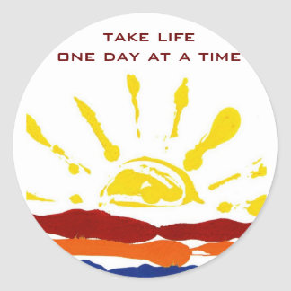 One day at a time stickers
