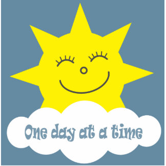 One day at a time sun brooch photo cutouts