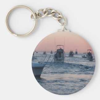 one day at a time (sunrise) basic round button keychain