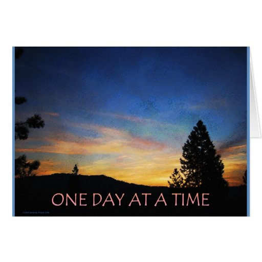 One Day at a Time Sunrise Cards