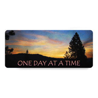 """One Day at a Time Sunrise 4"""" X 9.25"""" Invitation Card"""