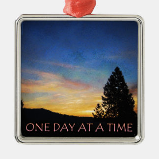 One Day at a Time Sunrise Metal Ornament