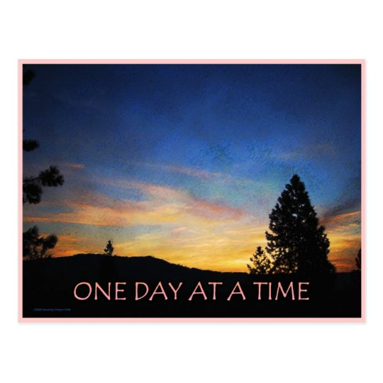 One Day at a Time Sunrise Postcard