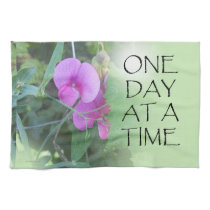 One Day at a Time Sweet Peas Kitchen Towel
