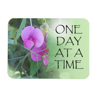 One Day at a Time Sweet Peas Rectangular Photo Magnet