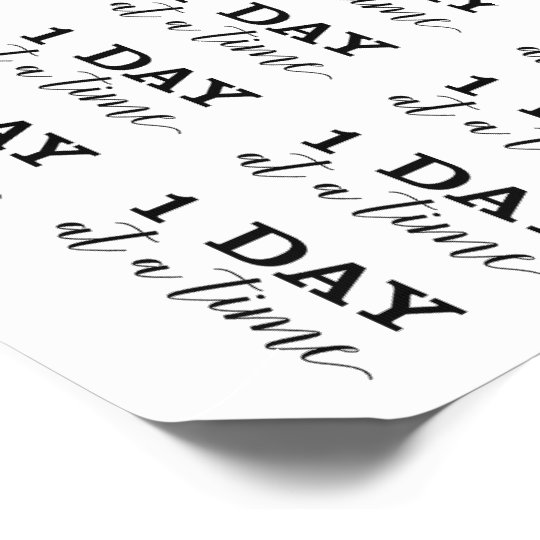 One Day At A Time Temporary Tattoo Sheet Zazzlecom