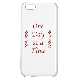 One Day at a Time-Text Design iPhone 5C Cover