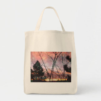 One Day at a Time Thanksgiving Sunrise Tote Bag