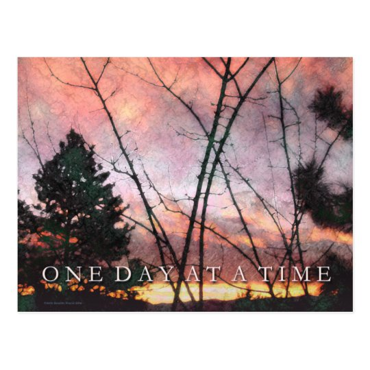 One Day at a Time Thanksgiving Sunrise Postcard