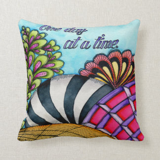One Day At A Time Throw Pillow