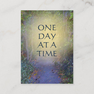 One day at a time business cards zazzle one day at a time tree canopy business card colourmoves