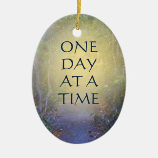 One Day at a Time Tree Canopy Ceramic Ornament