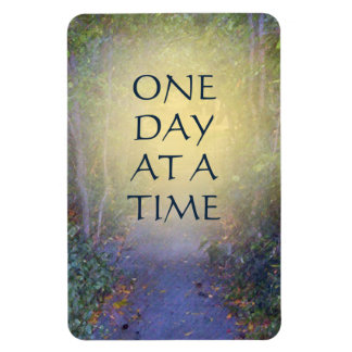 One Day at a Time Tree Canopy Rectangular Photo Magnet