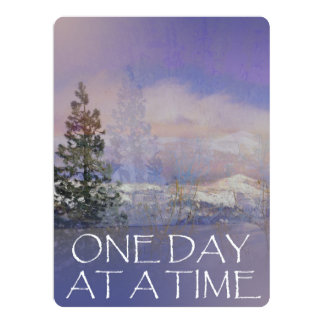 One Day at a Time Trees Hills Snow Card