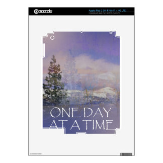 One Day at a Time Trees Hills Snow Decals For iPad 3